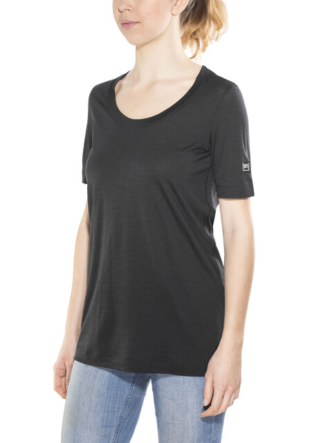 super.natural W's Oversize Tee Jet Black